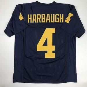 Jim Harbaugh Michigan Blue College Football Jersey